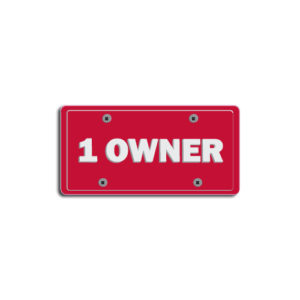 """1 Owner""Plate Decals"