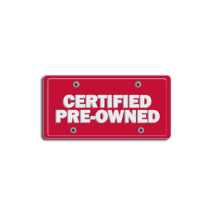 """Certified Preowned""Plate Decals"