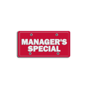 """""""Manager's Special""""Plate Decals"""