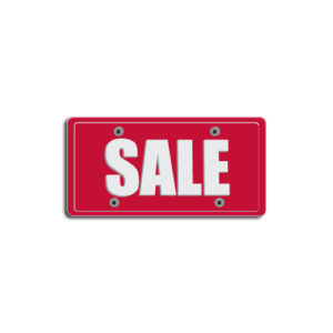 """""""SALE""""Plate Decals"""