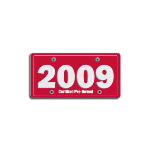 """2009""Plate Decals"