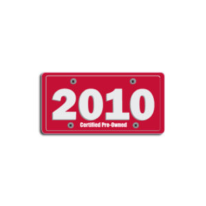 """2010""Plate Decals"