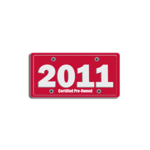 """2011""Plate Decals"