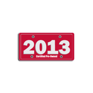 """2013""Plate Decals"
