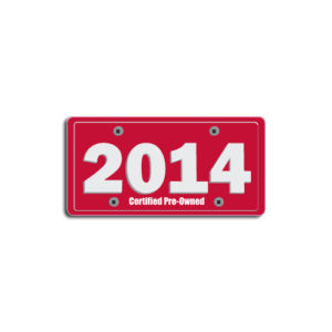 """2014""Plate Decals"