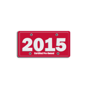 """2015""Plate Decals"