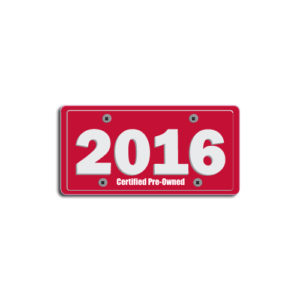 """2016""Plate Decals"