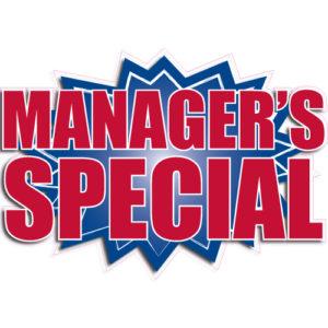 "[""Manager's Special""] Standard, Starburst Decals (14""x20"")"