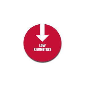 """Low Kilometres"" Badge Decals"