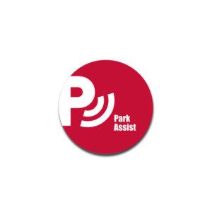 """Park Assist""  Badge Decals"