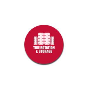 """Tire Rotation & Storage""  Badge Decals"