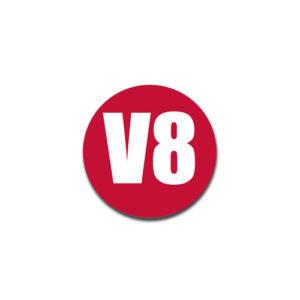 """""""V8""""  Badge Decals"""