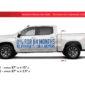 DealerPOP vinyl graphic for General Motors Dealerships (June 2020). Message says 0% Financing for 84 Months, No Payments for 6 Months.