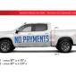 DealerPOP vinyl graphic for General Motors Dealerships (June 2020). Message says No Payments for 180 Days