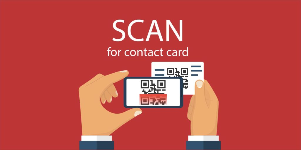 Use your phone to scan a QR code on a business card to get the contact infomation directly to your phone's address book.