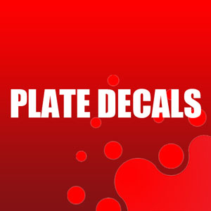 Plate Decals